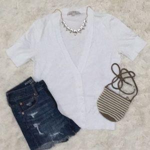 Loft SS Cardigan 💗 White